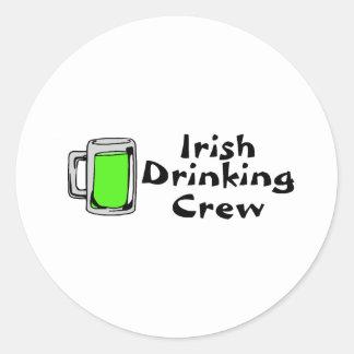 Cerveza verde de consumición irlandesa del equipo etiqueta