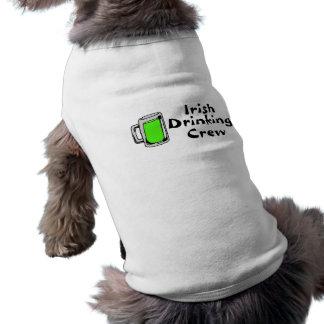 Cerveza verde de consumición irlandesa del equipo camisas de mascota