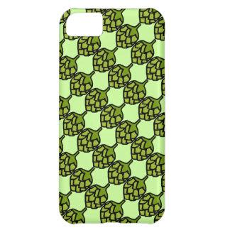 Cerveza verde de la planta de los saltos carcasa para iPhone 5C