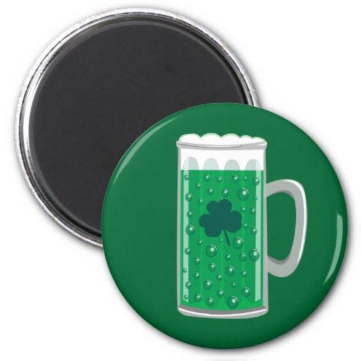 Cerveza verde imanes de nevera