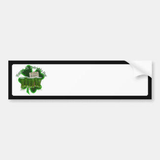Cerveza verde para un dólar con el trébol pegatina de parachoque