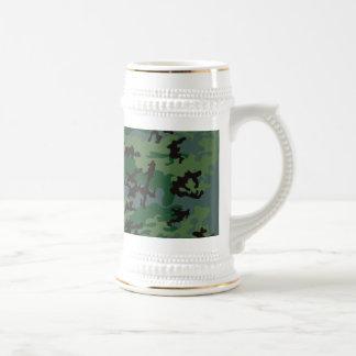 Cerveza verde Stein de Camo de las zonas tropicale Tazas De Café
