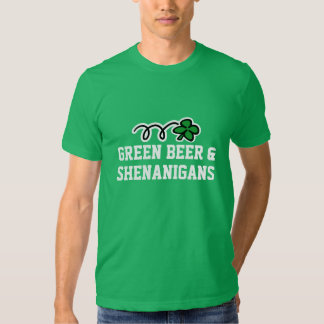 Cerveza verde y shenanigans de la camiseta el | poleras