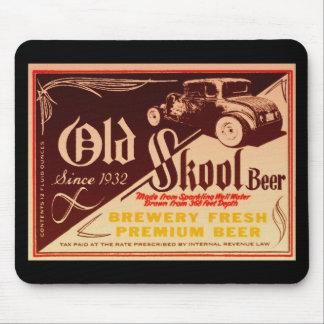 cerveza vieja del skool alfombrilla de ratones