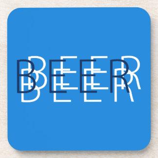 CERVEZA Vision doble - azul, marina de guerra y bl Posavasos De Bebidas