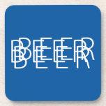 CERVEZA Vision doble - azul y blanco Posavasos De Bebidas
