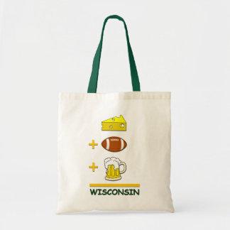 Cerveza Wisconsin del fútbol del queso Bolsa Tela Barata