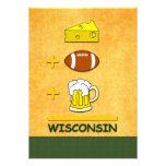 Cerveza Wisconsin del fútbol del queso Invitación