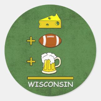Cerveza Wisconsin del fútbol del queso Etiquetas Redondas