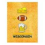 Cerveza Wisconsin del fútbol del queso Postal
