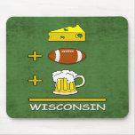Cerveza Wisconsin del fútbol del queso Alfombrilla De Raton