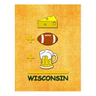 Cerveza Wisconsin del fútbol del queso Tarjetas Postales
