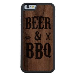 Cerveza y Bbq Funda De iPhone 6 Bumper Nogal