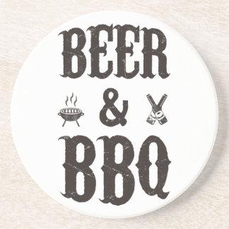 Cerveza y Bbq Posavasos Para Bebidas