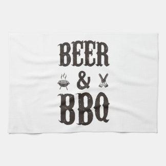Cerveza y Bbq Toallas De Mano