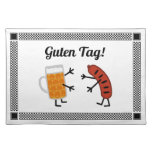 ¡Cerveza y Bratwurst - etiqueta de Guten! Manteles Individuales