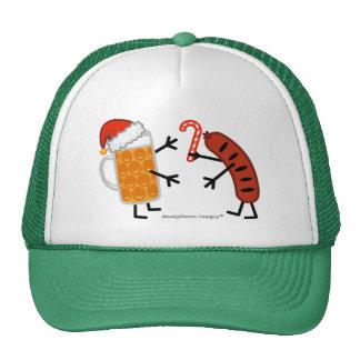 Cerveza y Bratwurst - navidad Gorras