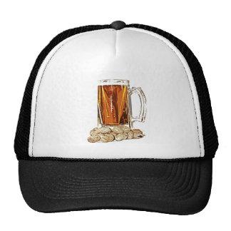 Cerveza y cacahuetes gorras de camionero