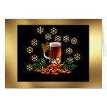 Cerveza y cacahuetes tarjetas