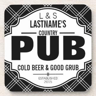 Cerveza y comida personalizadas del Pub del país Posavasos De Bebida