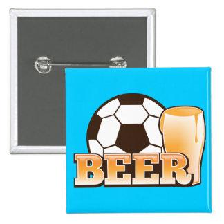 CERVEZA y fútbol del fútbol Pins