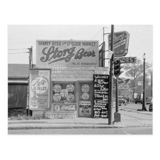 Cerveza y licor Market 1938 Postal