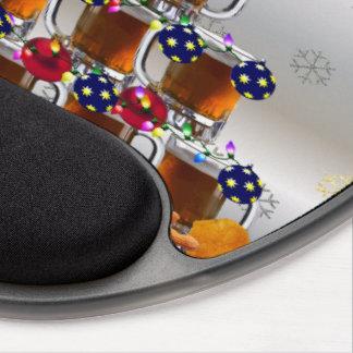 Cerveza y microprocesadores alfombrilla de ratón con gel