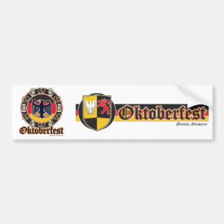 Cerveza y pretzeles de Oktoberfest Pegatina Para Auto