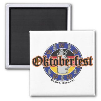 Cerveza y pretzeles de Oktoberfest Imán Para Frigorífico