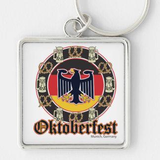 Cerveza y pretzeles de Oktoberfest Llaveros