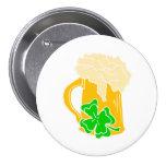 Cerveza y trébol irlandeses pins