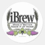 cerveza y vino del iBrew Etiquetas