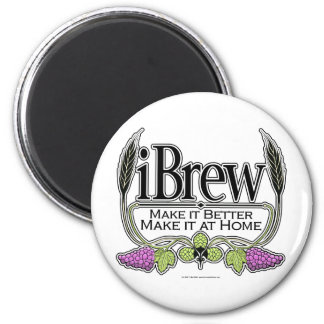 cerveza y vino del iBrew Imanes Para Frigoríficos