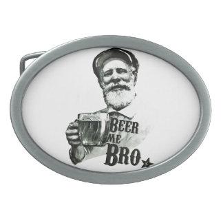Cerveza yo Bro. Hebillas Cinturon Ovales