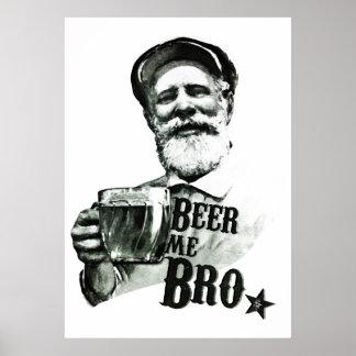 Cerveza yo Bro Póster
