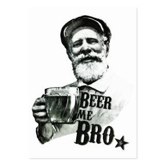 Cerveza yo Bro Tarjetas De Visita Grandes