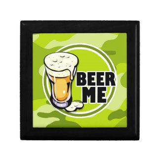 ¡Cerveza yo!  camo verde claro, camuflaje Caja De Regalo