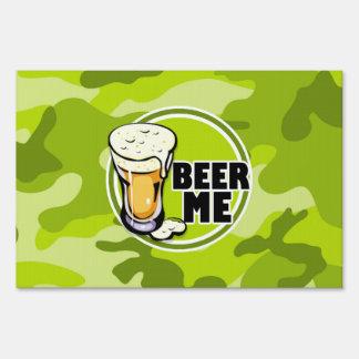 ¡Cerveza yo!  camo verde claro, camuflaje Carteles