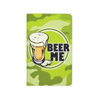 ¡Cerveza yo!  camo verde claro, camuflaje Cuadernos
