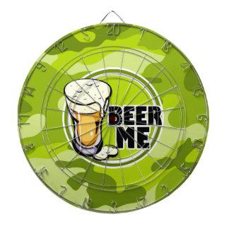 ¡Cerveza yo camo verde claro camuflaje Tablero Dardos