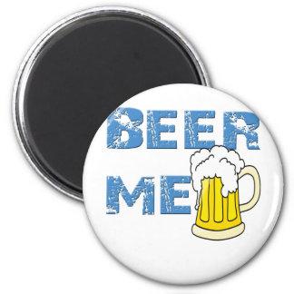 cerveza yo divertido imán redondo 5 cm