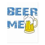 cerveza yo divertido tarjeta postal