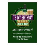 Cerveza yo invitaciones de la fiesta de cumpleaños comunicados