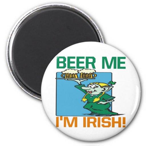 Cerveza yo irlandés Im Imán De Frigorífico