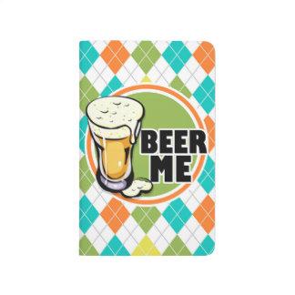 ¡Cerveza yo!  Modelo colorido de Argyle Cuadernos