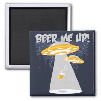 ¡Cerveza yo para arriba! Imanes De Nevera