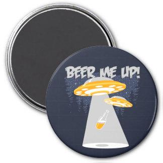 ¡Cerveza yo para arriba! Imán Redondo 7 Cm