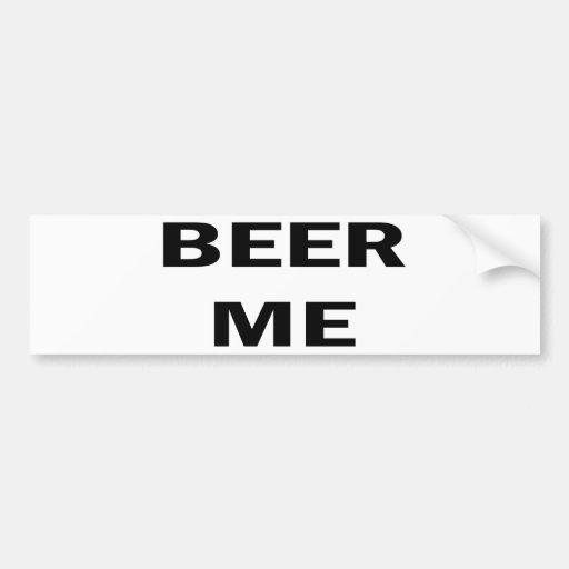 Cerveza yo pegatina de parachoque