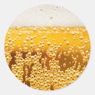 Cerveza yo pegatina redonda