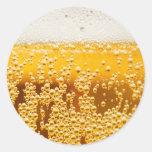 Cerveza yo pegatinas redondas